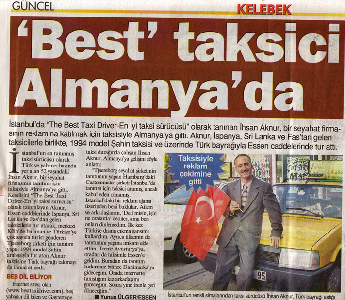 The Best Taxi Driver İhsan Aknur