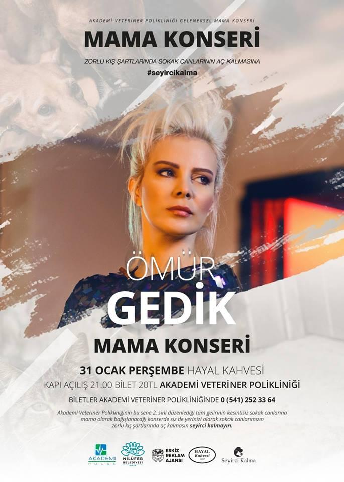 Ömür Gedik Bursa konseri