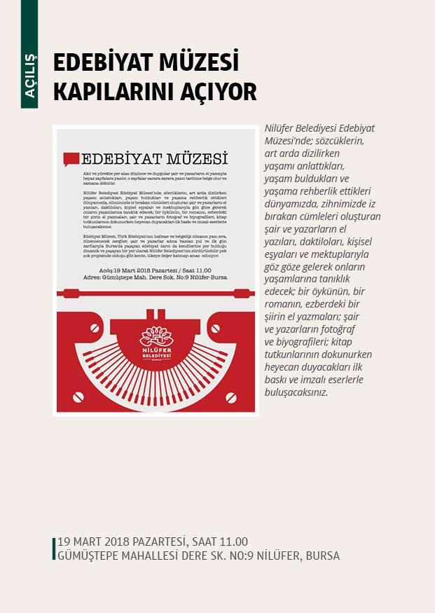 Bursa Edebiyat Müzesi açılışı