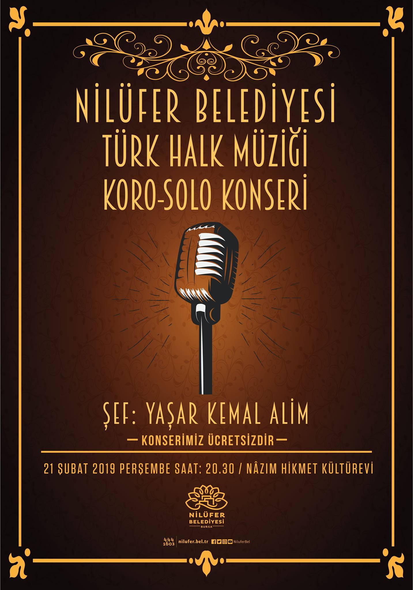 Nilüfer Belediyesi Türk Halk Müziği Koro - Solo konseri