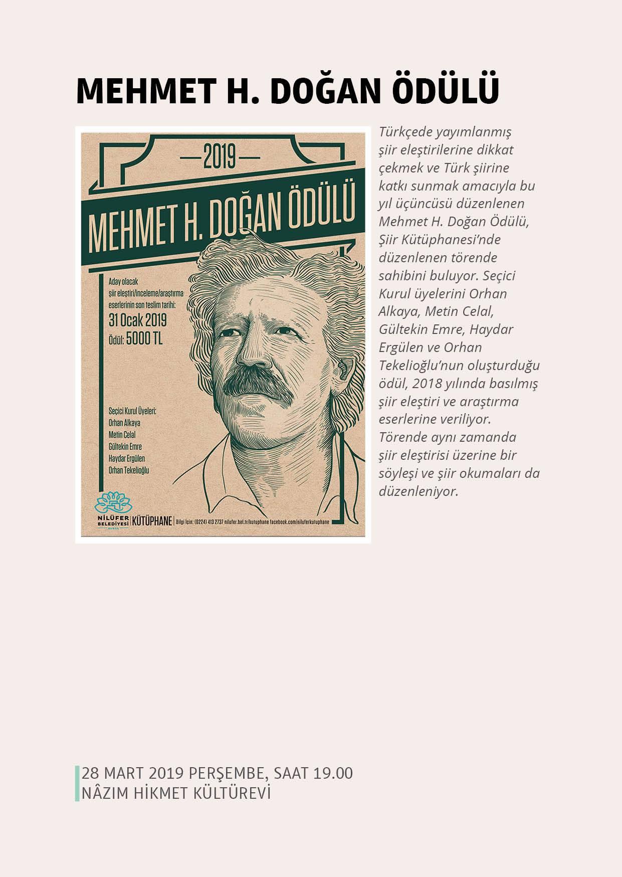 Mehmet H. Doğan Ödül Töreni