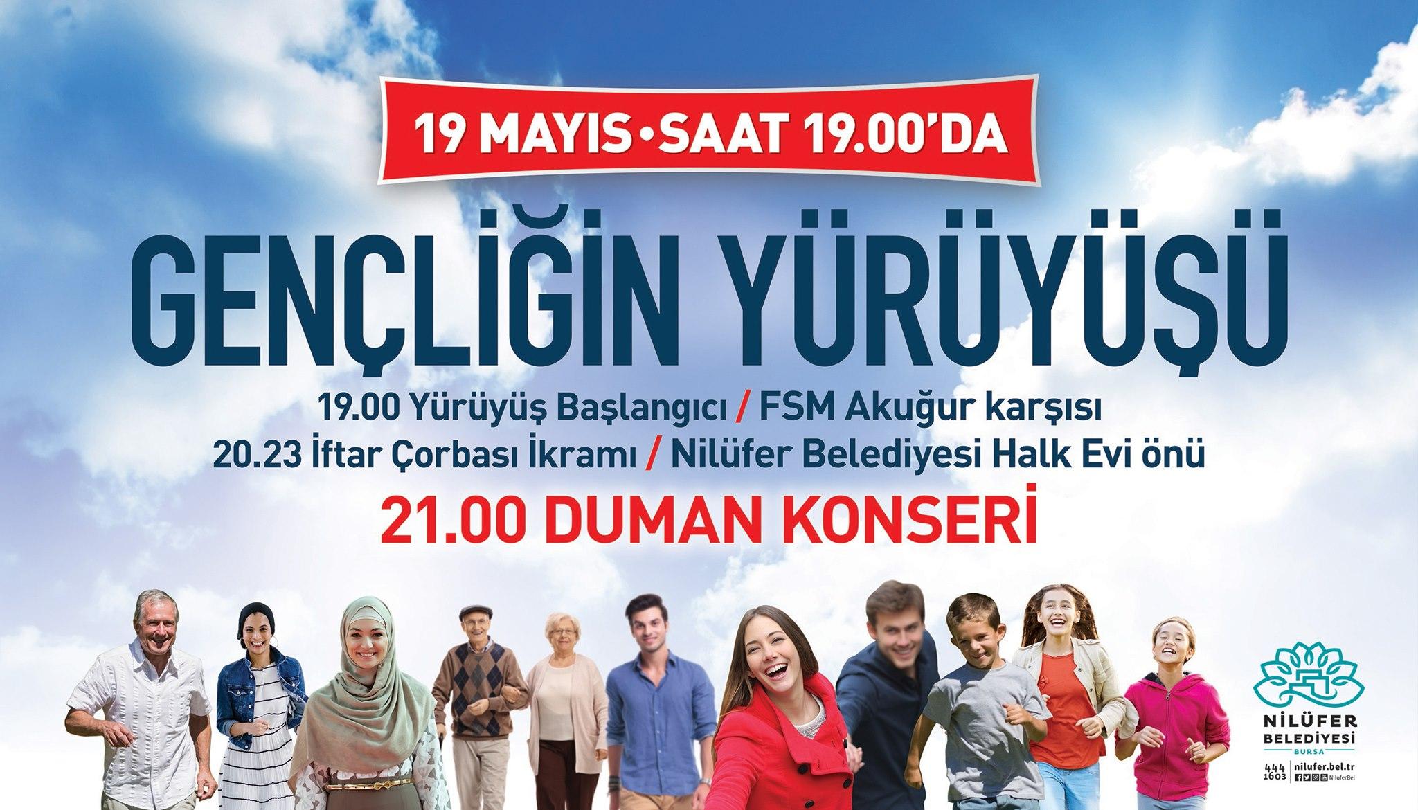 19 Mayıs Gençliğin Yürüyüşü ve Duman Konseri